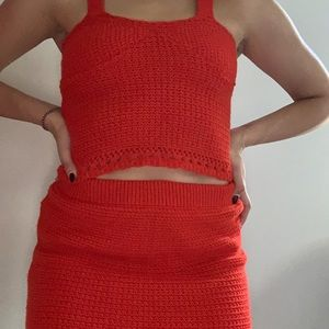 Red Crochet co-ord.